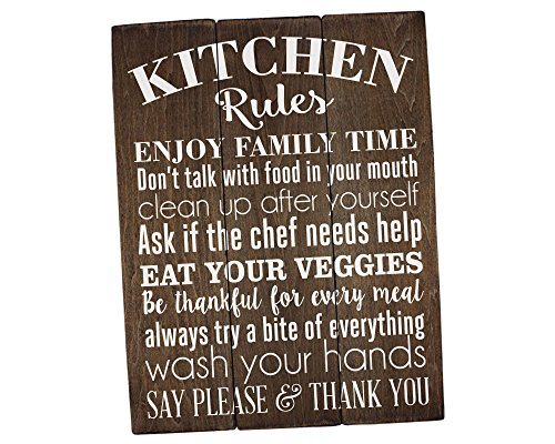 Rustic Farmhouse Kitchen Rules Sign