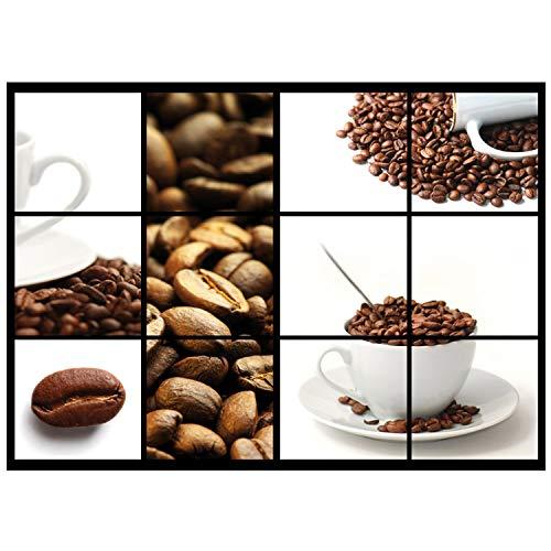 Vlies Fototapete PREMIUM PLUS Wand Foto Tapete Wand Bild Vliestapete - Kaffeebohnen Kaffeetasse Kaffee - no. 1587, Größe:368x254cm Vlies