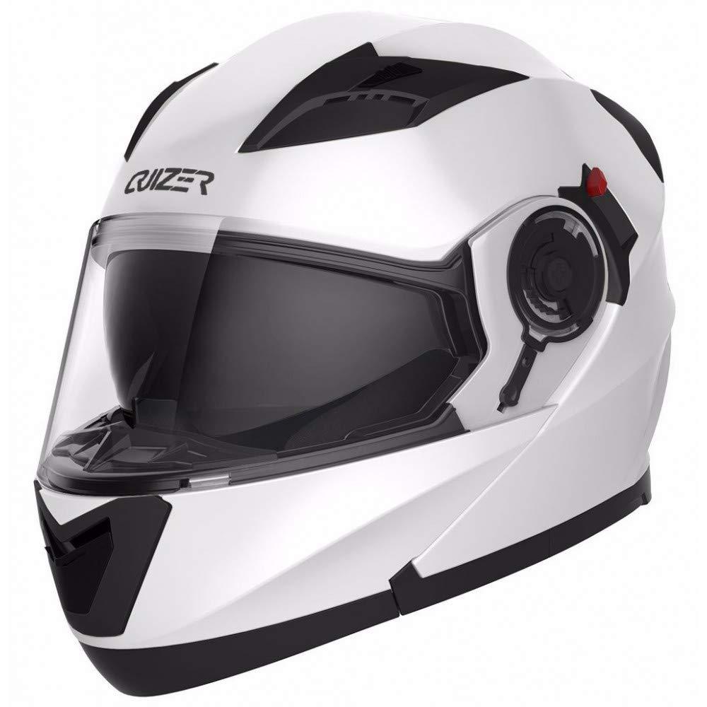 /05 talla S doble visera ece-22/ CRUIZER Casco Moto integral homologado color blanco