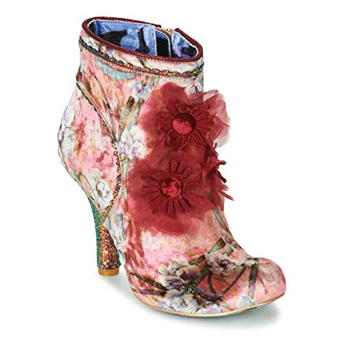 IRREGULAR CHOICE QUEEN VELVET Enkellaarzen/Low boots dames Rood Enkellaarzen