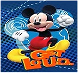 Disney Mickey Mouse, Donald Duck, Goofy, and Pluto Super Soft Plush Oversized Twin Size Blanket Get Loud