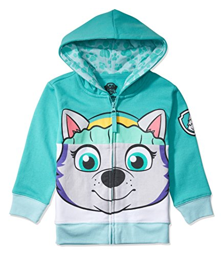 Nickelodeon Toddler Paw Patrol Character Big Face Costume Zip-up Hoodies (5T, Everest)