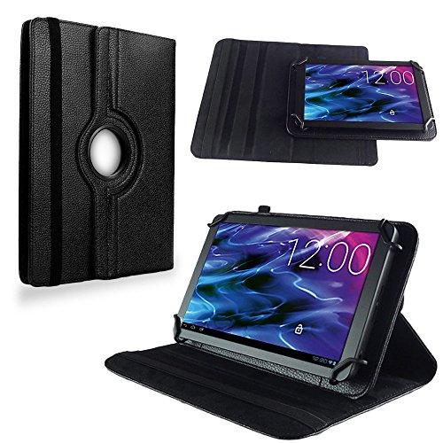 NAUC Medion Lifetab S10351 S10352 Tasche Hülle Tablet Schutzhülle Hülle Schutz Cover, Farben:Schwarz