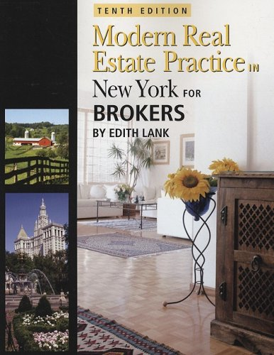 Download New York Modern Real Estate Practice for Brokers (Modern Real Estate Practice in New York) 1427768188