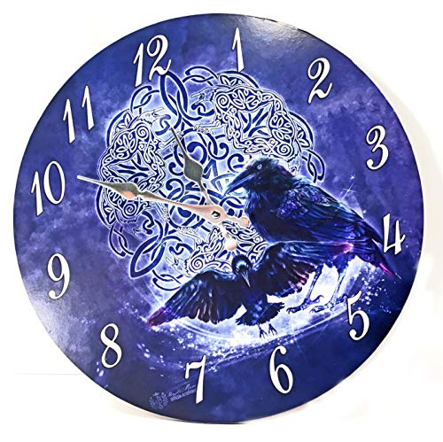 Exclusive Cyber Distributors Celtic Raven Home Decor Wall Clock - Gothic Halloween Sculpture Collectible Gift Ideas 7PT11105