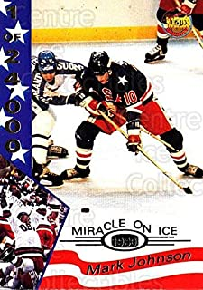 (CI) Mark Johnson Hockey Card 1995 Signature Rookies Miracle on Ice Numbered 18 Mark Johnson