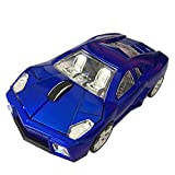 Wireless Mouse Sports Car Mouse Computer Optical Mice for Computer PC Laptop MAC (Blue)