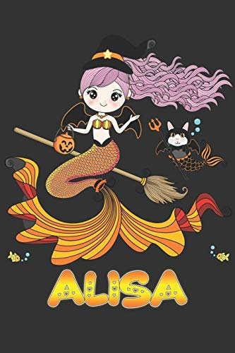 Alisa: Alisa Halloween Beautiful Mermaid Witch Want To Create An Emotional Moment For Alisa?, Show Alisa You Care With This Personal Custom Gift With Alisa's Very Own Planner Calendar Notebook Journal