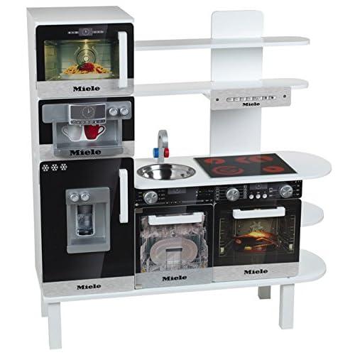 Klein - 9459 - Jeu d'imitation - Cuisine en bois avec équipement Miele, grand modèle