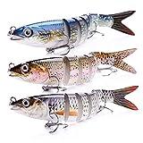 VTAVTA Bass Fishing Lures Swim Bait for Bass, Striper Fish Gears Kits Pack of 2