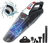 Handheld Vacuum, Cordless Vacuum Cleaner, Portable Rechargeable Vacuum Cleaner Handheld, Lightweight Wet/Dry Car Vacuum Cleaner, 2 LED Light for Home and Car