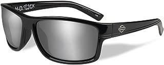 Harley-Davidson Men's Slick Silver Flash Sunglasses, Gloss Black Frames HASLK02