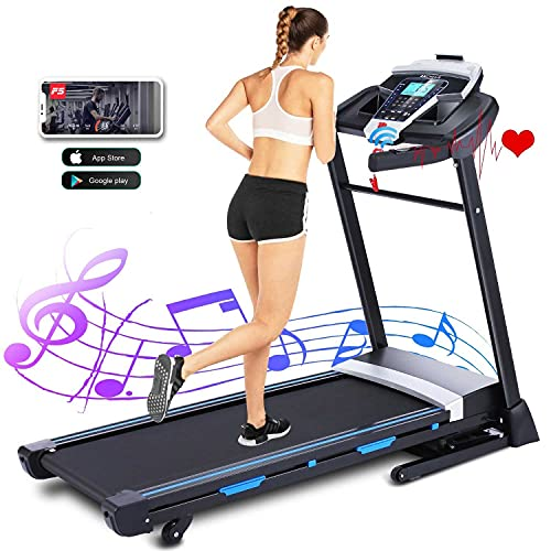 ANCHEER Treadmills for Home, 3.25HP APP Folding Treadmill with Automatic Incline, Walking Running Jogging Machine for Home/Gym Cardio Use