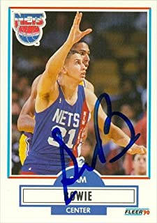 Autograph Warehouse 42686 Sam Bowie Autographed Basketball Card New Jersey Nets 1990 Fleer No. 118