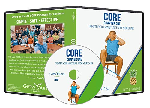 Grow Young Fitness Chair Exercises for Seniors - Core DVD - Simple Safe Effective Core Workout DVD for Elderly