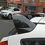 MEIDUN AleróN Trasero de PláStico ABS para Coche, para Ford Focus RS 2012-2016 2017 2018, ala Superior de Estilo de Coche, Accesorios de Reajuste del Maletero, Decoració