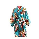 Taigood La Bata de Kimono de satén de niña florece la Bata de baño para el Cumpleaños De La Boda del SPA