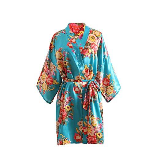 Taigoodella Ragazza Raso Kimono Robe Blossoms Accappatoi Vestaglia per Spa Matrimonio Compleanno