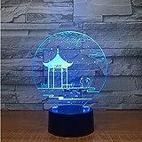 DMYDMY Diapositives 3D Lumières 3D Lumières Optiques Nuit Fantôme Tactile Tactile Télécommande 7 Couleurs Stylo Vase Foudre Marteau Bottes De Pluie Peinture Murale Chinoise