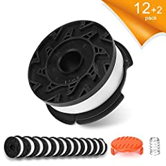 👍 black decker trimmer string Specification: Perfect Compatible with black decker trimmer spool for AF-100, AF-100-3ZP, AF-100-BKP, AF-100-2 black decker spool, 30ft 0.065-Inch Replacement Autofeed Spool 👍 Rugged material: The edger replacement strin...