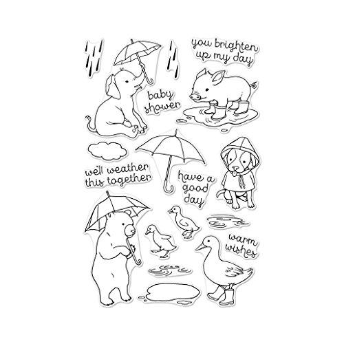 Hero Arts Fun in The Rain Photopolymer Stamp
