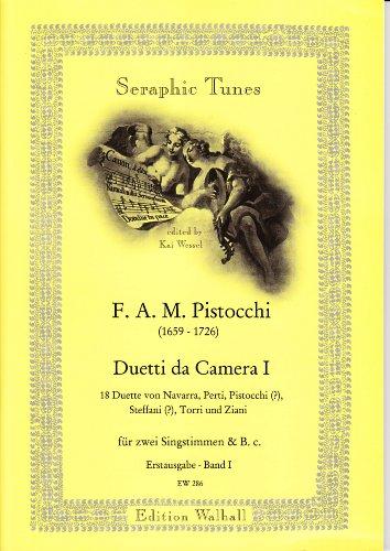 Duetti da Camera Band I. Handschriftliche Sammlung aus der Schlossbibliothek Ansbach mit 18 Duetten für 2 Singstimmen und B.C. Erstausgabe (Partitur)