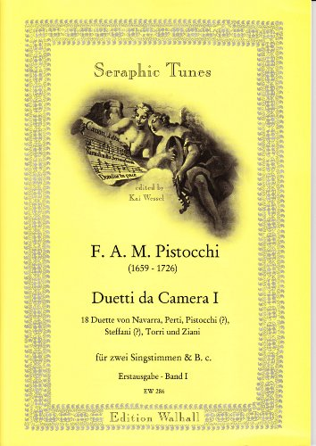 Duetti da Camera Band I. Handgeschreven verzameling uit de slotbibliotheek Ansbach met 18 duetten voor 2 singstem en B.C. Originele uitvoering (partitur)