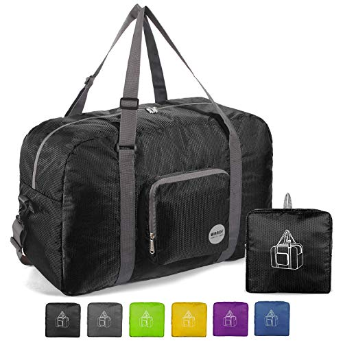 WANDF 22' Foldable Duffle Bag 50L for Travel Gym Sports Lightweight Luggage Duffel