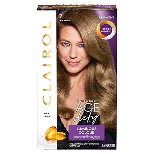 Clairol Age Defy Hair coloring, número 7, rubio oscuro