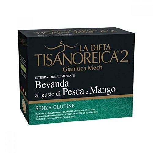 Tisanoreica2 Bevanda Dietetica Al Gusto Di Pesca E Mango Senza Glutine 4 Buste Da 29g