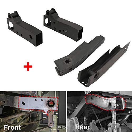NIXFACE 4PCS Front & Rear Shackle Mount Frame Rust Repair Kit Fit for Jeep 1986-95 Wrangler YJ (Driver and Passenger)