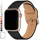 SUNFWR Compatible pour Bracelet Apple Watch 38mm 40mm,en Cuir Véritable Bracelet,Multicolore de Montre Compatible avec Watch...