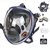 17in1 Full Face Respirator Protective Respirator Face Cover Widely Used in Painting, Welding, Woodworking