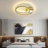 BFMBCHDJ Iluminación moderna de la lámpara para la sala de estar Dormitorio Habitación redonda Lámpara de techo para el hogar Lámparas modernas Dia40x6cm 42W Blanco cálido