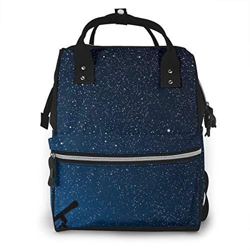 Teleskop unter den Sternen Camping Wickeltasche, wasserdichter Canvas-Laptop-Rucksack, personalisierter Reiserucksack Studentenrucksack College-Tasche