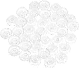 Beaupretty Wimpers Fan Lijm Cups 100Pcs Wegwerp Tattoo Ringen Wegwerp Ring Cups Pigment Ringen Make Lijm Houder Ringen