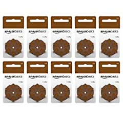 High quality Zinc Air hearing aid Batteries, size 312, brown tab Zinc Air hearing aid batteries offer reliable, long-lasting performance 60 Pack Ships in Certified Frustration-Free Packaging
