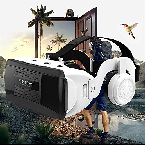 VR Headset, Virtual Reality Headset,VR SHINECON VR Goggles for TV, Movies & Video Games - 3D VR Glasses for Iphone, Android and Other Phones, Compatible with Smartphones Play Your Best 3D (VR Headset)