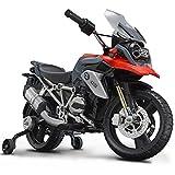ROLLPLAY Premium Moto Électrique, À partir de 3 Ans, Jusqu'à 35 kg, Batterie 12 Volts, Jusqu'à 4 km/h, BMW 1200 Motorcycle,...
