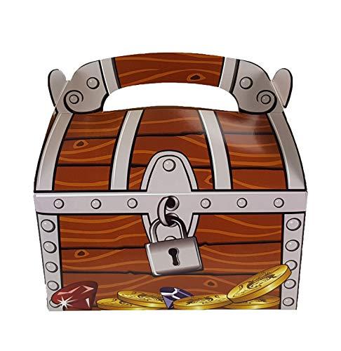 cama24com Piraten Party Schatzkiste Schatztruhe 12 Stück für Mitgebsel und Give-Aways auf dem Kindergeburtstag von Palandi®