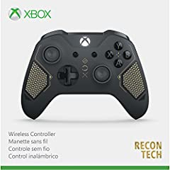 Equip yourself with the Xbox Wireless Controller – Recon Tech Special Edition, featuring a sleek, dark grey military design Get up to twice the wireless range than previous controllers Stay on target with diamond grip Includes Bluetooth technology fo...