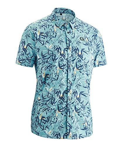 Gonso M Necton Blau, Herren Hemd, Größe XL - Farbe Dark Turkey Allover