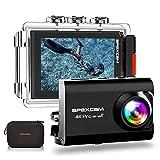 ApexcamAction Cam Pro【Aggiornato】4K 20MP Fotocamera EIS WIFI 2 Pollici Ultra HD Impermeabile...