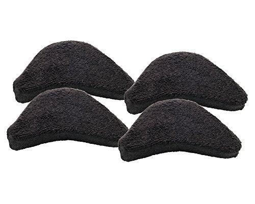 [メイダイ] つま先 クッション サイズ調整 前滑り防止 パンプス/ブーツ/スニーカー対応 男女兼用 つま先ズキズキしな~い 4個入り ブラック フリー