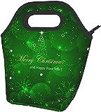 Buon Natale Stampato Il Pranzo Isolato Box Ampio Pranzo Tote Pranzo Tote Bag - Leggero, Isolato E Riutilizzabili
