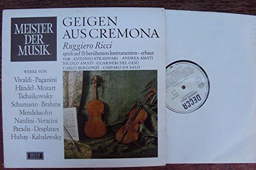 Geigen aus Cremona. Ruggiero Ricci spielt auf 15 berühmten Instrumenten. Leon Pommer Klavier. Stereo
