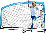 BAYINBULAK Portería de Fútbol para Niños Plegables Portería Red para Niños Jardín Entrenamiento Futbol x1