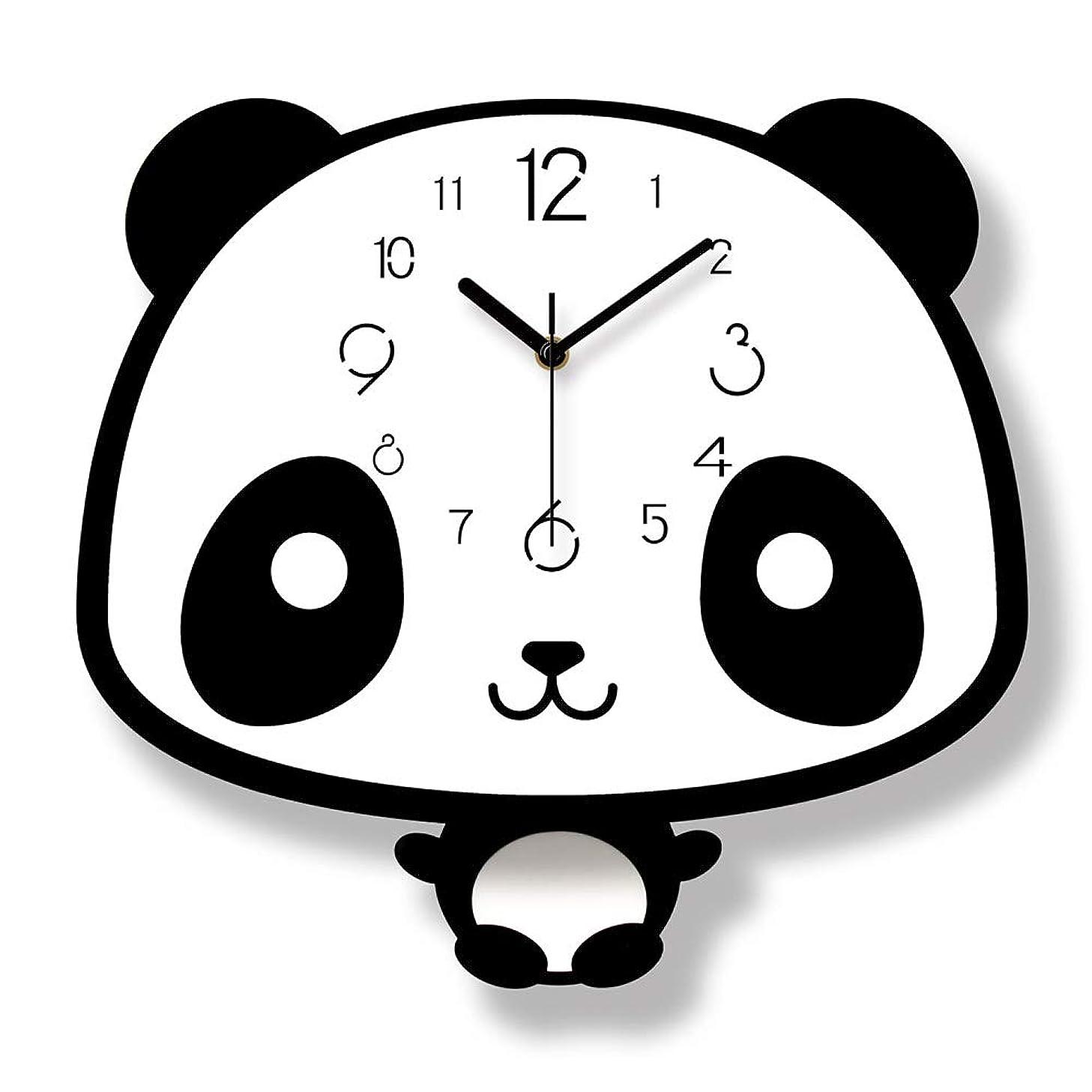 アシュリータファーマン活力年新しい北欧スタイルパンダウォールクロックサイレント木製時計用ホームリビングルーム高品質