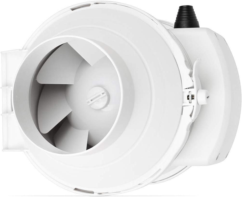 califlow 100 mm Extractor de Conducto en Línea Ventilador profesional de Flujo Mixto 198m²/h 140Pa 33W