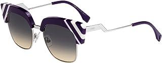 نظارة شمسية من فيندي FF0241/S مع عدسات لون بنفسجي / أصفر 50 ملم B3VGA FF0241S FF 0241S FF 0241/S